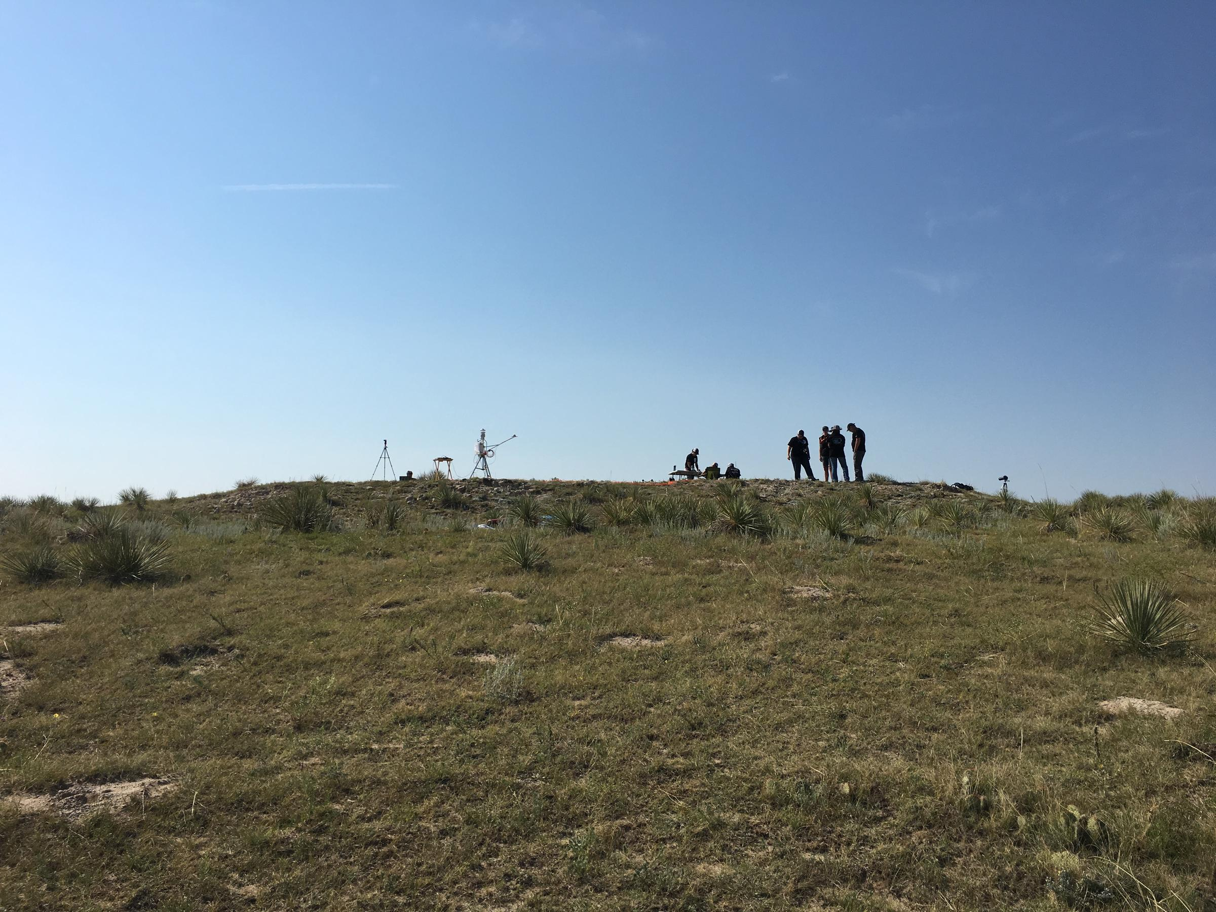 Small hill where several students released radiosonde balloons COOPER MCKIM