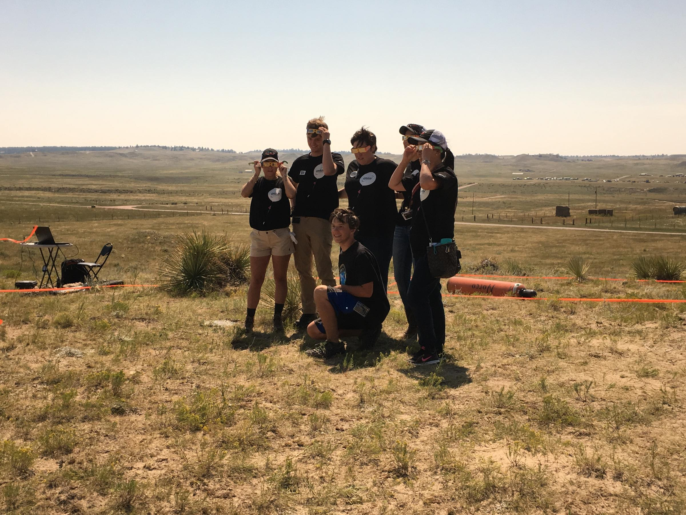 Students and staff with the Montana Space Grant Consortium just before the eclipse COOPER MCKIM