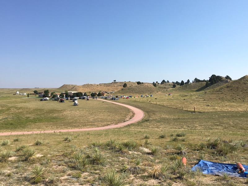 Overlooking the Fort Laramie B &B the day of the eclipse COOPER MCKIM
